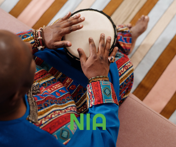 The fifth principle of Kwanzaa is Nia (Purpose) meaning to make our collective vocation the building and developing of our community in order to restore our people to their traditional greatness.