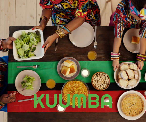 The sixth principle of Kwanzaa is Kuumba (Creativity) meaning to do always as much as we can, in the way we can, in order to leave our community more beautiful and beneficial than we inherited it.
