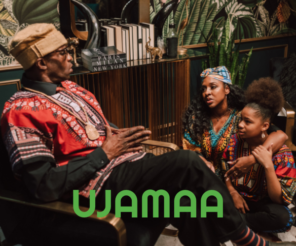 The fourth principle of Kwanzaa is Ujamaa (Cooperative Economics), meaning to build and maintain our own stores, shops and other businesses and to profit from them together.